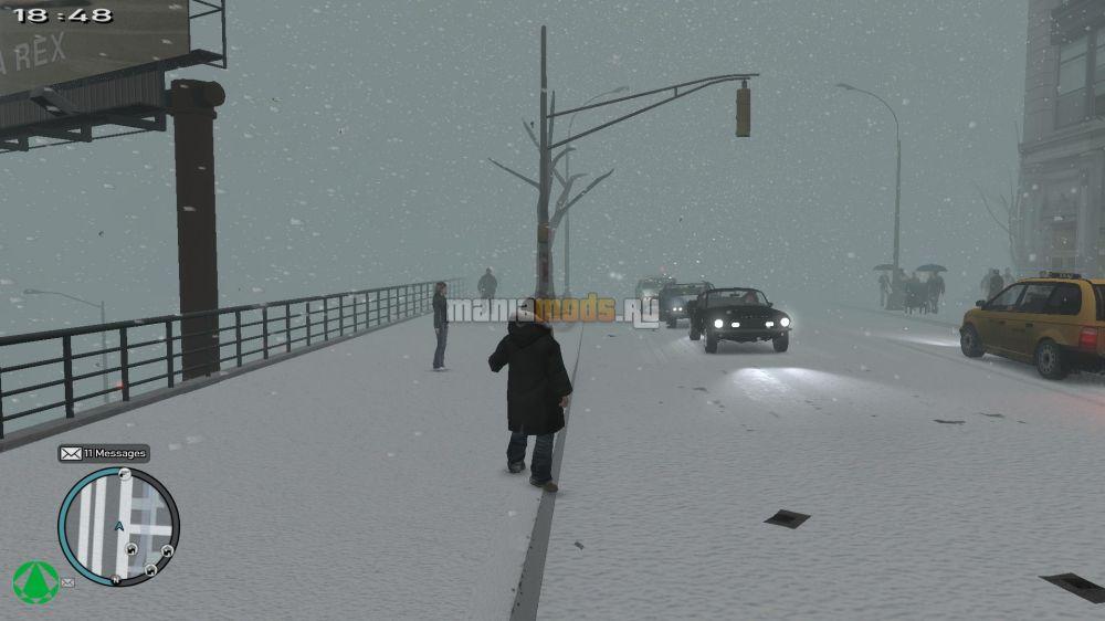 Как сделать в гта зиму