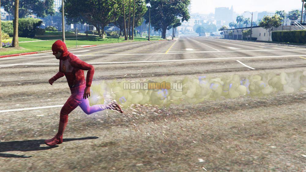 The Flash / Вспышка для GTA V - Скриншот 2