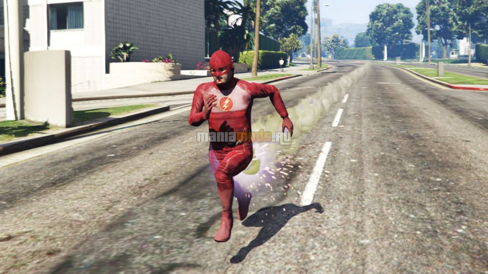 The Flash / Вспышка для GTA V - Скриншот 1