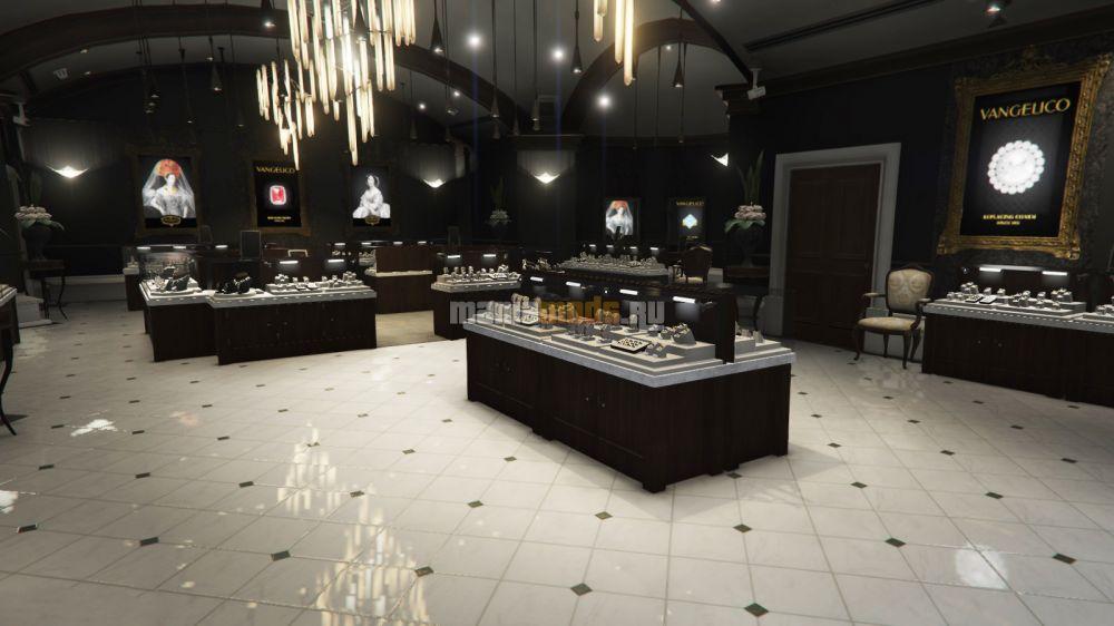Vangelico Jewellery Store Heist / Ограбление ювелирного магазина v0.3 для GTA V - Скриншот 1