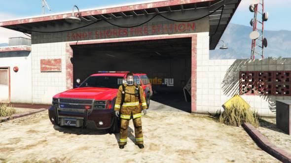 Firefighter / Пожарный v1.0-RC1 для GTA V - Скриншот 1