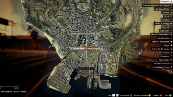 Colored and Satellite Map v0.2 / Новые карты – стандартная в цвете и спутниковая для GTA V - Скриншот 1