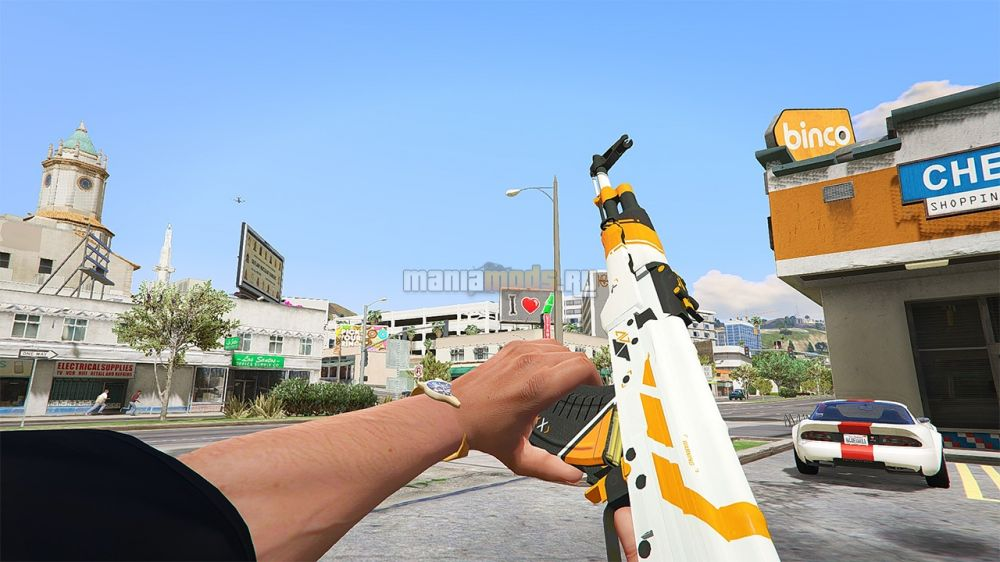 AK47 & AWP - Asiimov Edition v1.0 для GTA V - Скриншот 1