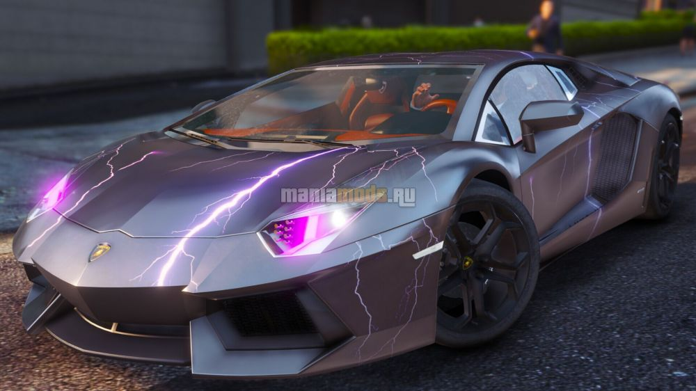Lamborghini LP700-4 Burst Line texture v1.1 для GTA V - Скриншот 1
