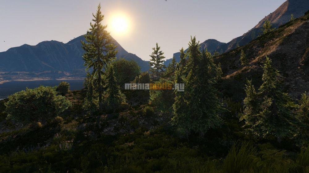 Grass Texture Mod [Final] — Модификация текстур травы для GTA V - Скриншот 2