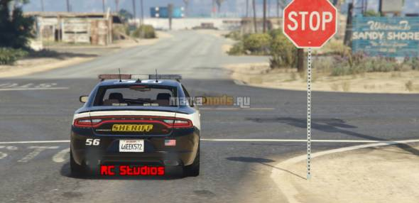 Скриншот Blaine County Sheriff - Dodge Charger 2015 v1.0