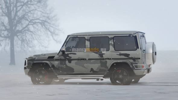 "Скриншот 2013 Mercedes-Benz G65 ""Winter Camouflage"" Paintjob"