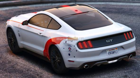 "Скриншот ""USAF Thunderbirds"" Paintjob [2K+4K] for Aige's Ford Mustang GT 2015"