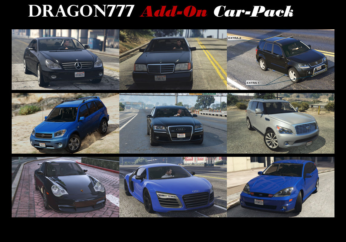 DragoN777 Car Pack (18 cars) [Add-On (OIV)]
