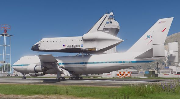 Скриншот Boeing 747 Space Shuttle Carrier [Add-On]
