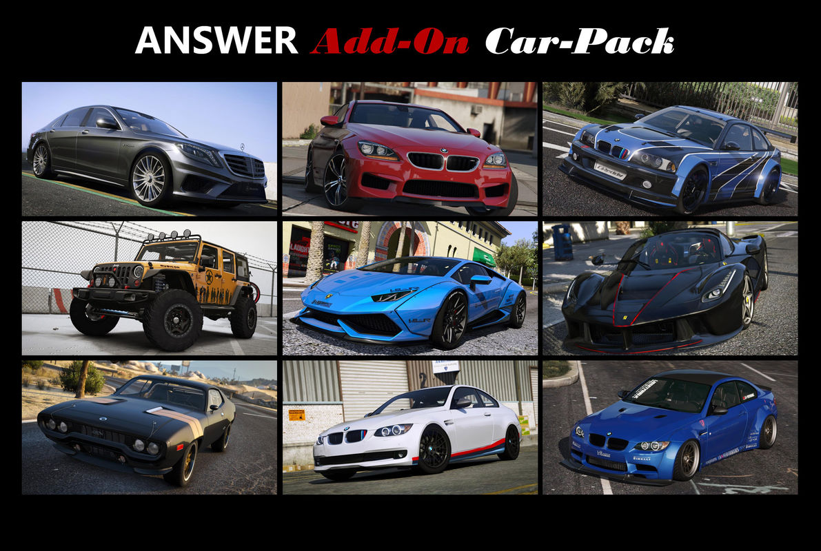 Answer Car Pack (16 cars) [Add-On (OIV)]