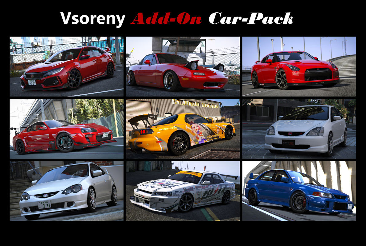 Vsoreny Car Pack (13 cars) [Add-On (OIV)]